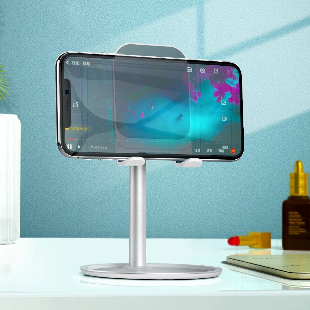 Luxury Universal Telescopic Desktop Stand Holder For iPhone Mobile Phone Metal Support Smart Phone Tablet Stand Constructed From Aluminum Alloy