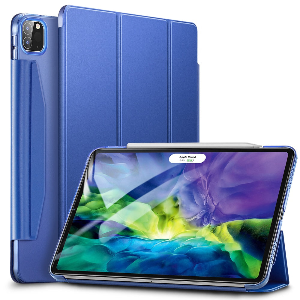 Magnetic Closure Flip Stand Smart Case for iPad Pro 1112.9 2020 iPad Air 4 iPad 8th Gen 10.2'' Shockproof Back Cover for iPad Pro 2020 Case With Microfiber Lining