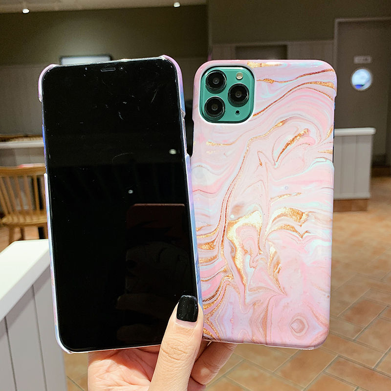 Marble Stone Texture Ultra Slim Phone Case For iPhone 11 XR XS X XS Max 7 8 6 6S Plus Hard Protective Back Cover Fitted Case for iPhone