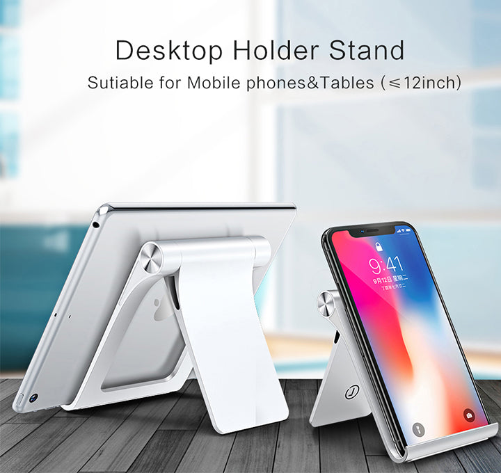 Mobile Phone Stand For iPhone Universal Modern Styling Adjustable Desktop Holder Phone Stand For Tablet In Black or White Suitable For Most Mobile Devices