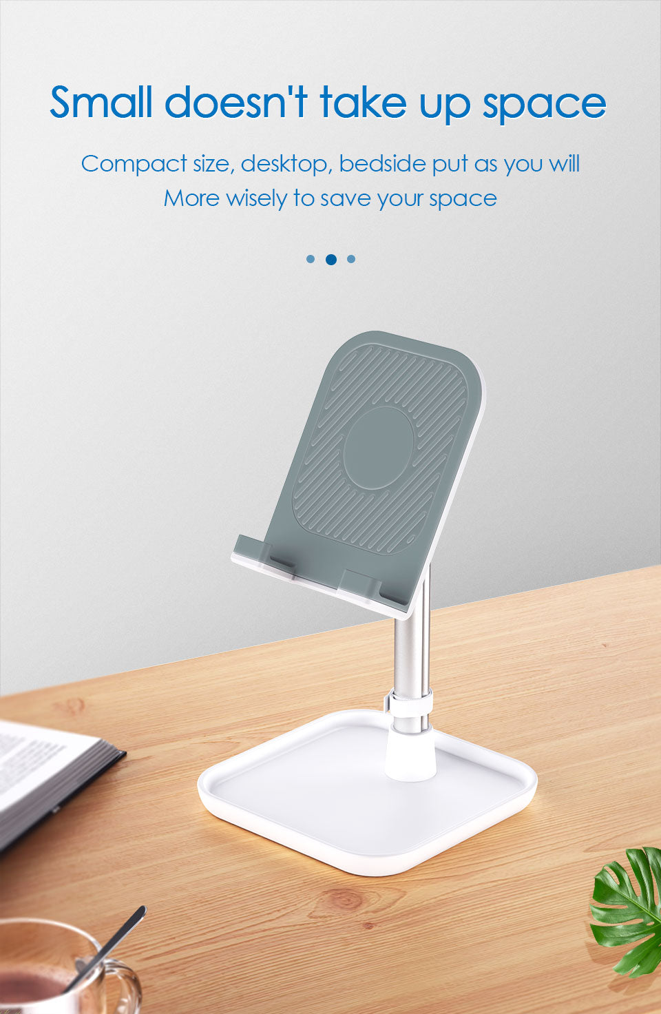 Multi-Angle Adjustable Tablet Stand For iPad MiniiPad Air Height Adjustable Sturdy With Tray Base Suitable For All Makes Of Smartphone And Tablets