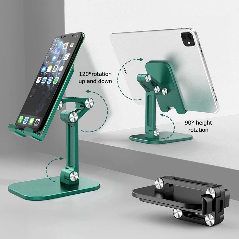 Multi-Angle Foldable Adjustable Desk Mount For iPad iPhone Mobile Phone Stand Universal Tablet Holder Ideal For Positioning Phone For Videocalls Or Movies