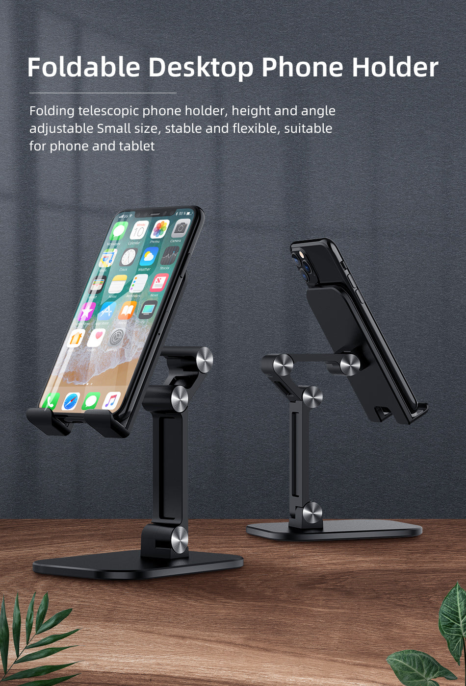 Multi-Angle Foldable Adjustable Desk Mount For iPad iPhone Mobile Phone Stand Universal Tablet Holder Ideal For Positioning Phone For Videocalls Or Movies etc