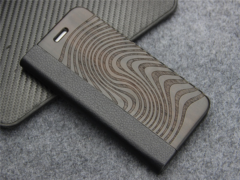 Natural Wood And Leather Magnetic Flip Case For iPhone X XR XS Max Card Holder Kickstand Cover iPhone Case For iPhone X XR XS Max