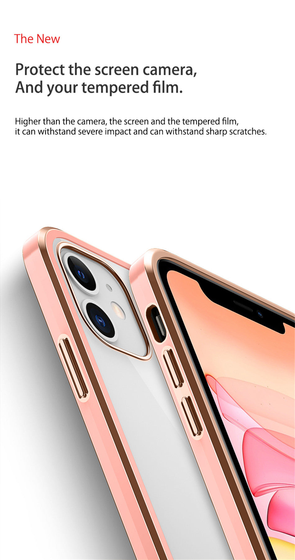 New Straight Edge Narrow Border Case For iPhone 11 Pro XS Max XR X 7 8 Plus SE 2020 The Feel of iPhone 12 Transparent Square Frame Back Cover Case For iPhone