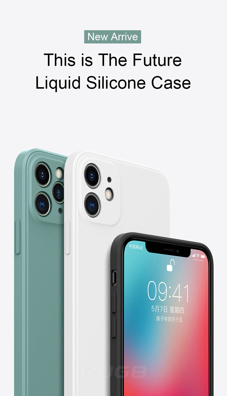 Next Generation Classic Square Edge Case For iPhone 11 Pro XS Max Soft Liquid Silicone Cover For iPhone 12 X XR 6 6s 7 8 Plus SE 2020 Phone Case