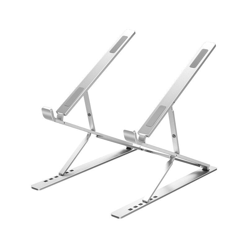 Portable Adjustable MacBook Desktop Stand With Adjustable Height This Foldable Pedestal Is Designed To Raise Screen For Better Posture Whilst Working On Laptop