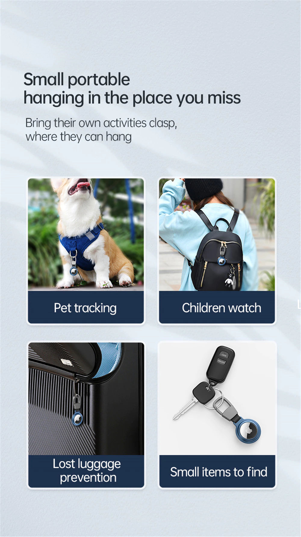 Portable Metal Protective Case For Air Tag Tracker Luxury Matte Black Keyring With Magnetic Enclosure Shell Case For AirTag