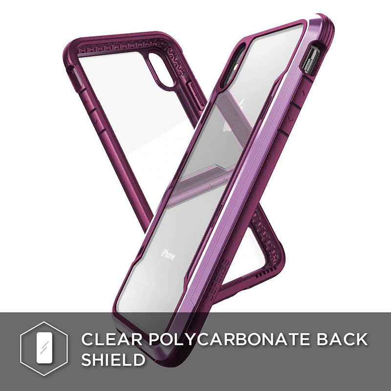Premium Hybrid Aluminium iPhone Bumper Case With Superior Anti-Drop Protection For iPhone XR XS Max Military Grade Drop Protection