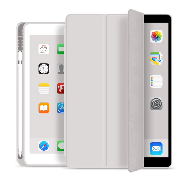 Protective Case for 2019 iPad 10.2 7th 2018 2017 9.7 Mini 4 5 2020 Pro 11 10.5 Air 3 Case For iPad 5th 6th Generation Smart Cover iPad Case with Pencil Holder