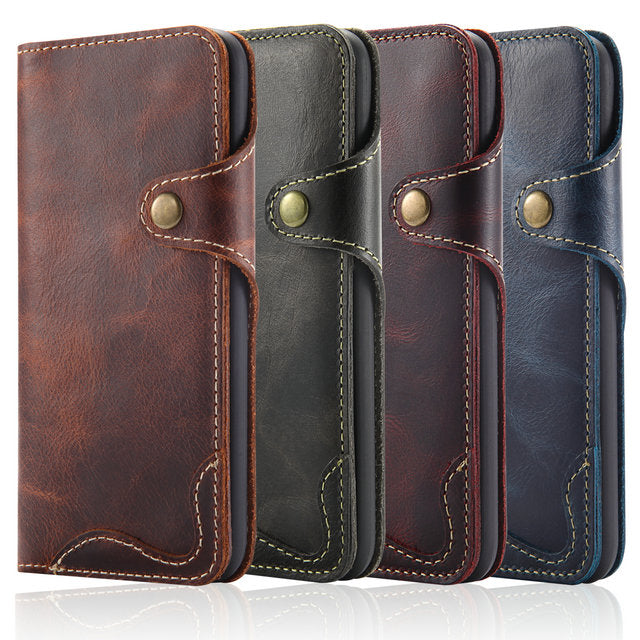 Real Leather Retro Wallet Case For Apple iPhone X Max Flip Cover Card Holder Wallet Case For iPhone XS XS iPhone XR Leather Case