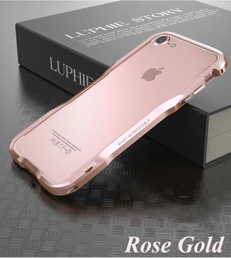 Rugged 3D Metal Bumper Case For iPhone X Real Metal Armor Heavy Duty Protective Bumper Case For Apple iPhone 6 6S 7 8 Plus