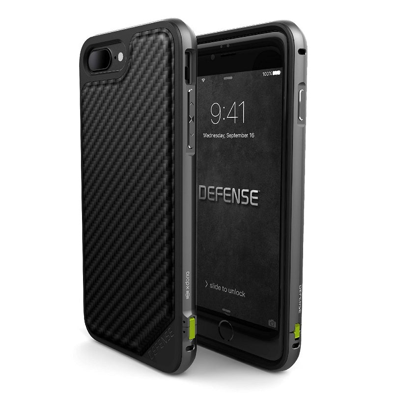 Rugged and Refined Hybrid Case for iPhone 7 and iPhone 7 Plus Military Grade Drop Tested Machined Aluminum Protective Cover with Impact Resistant Back
