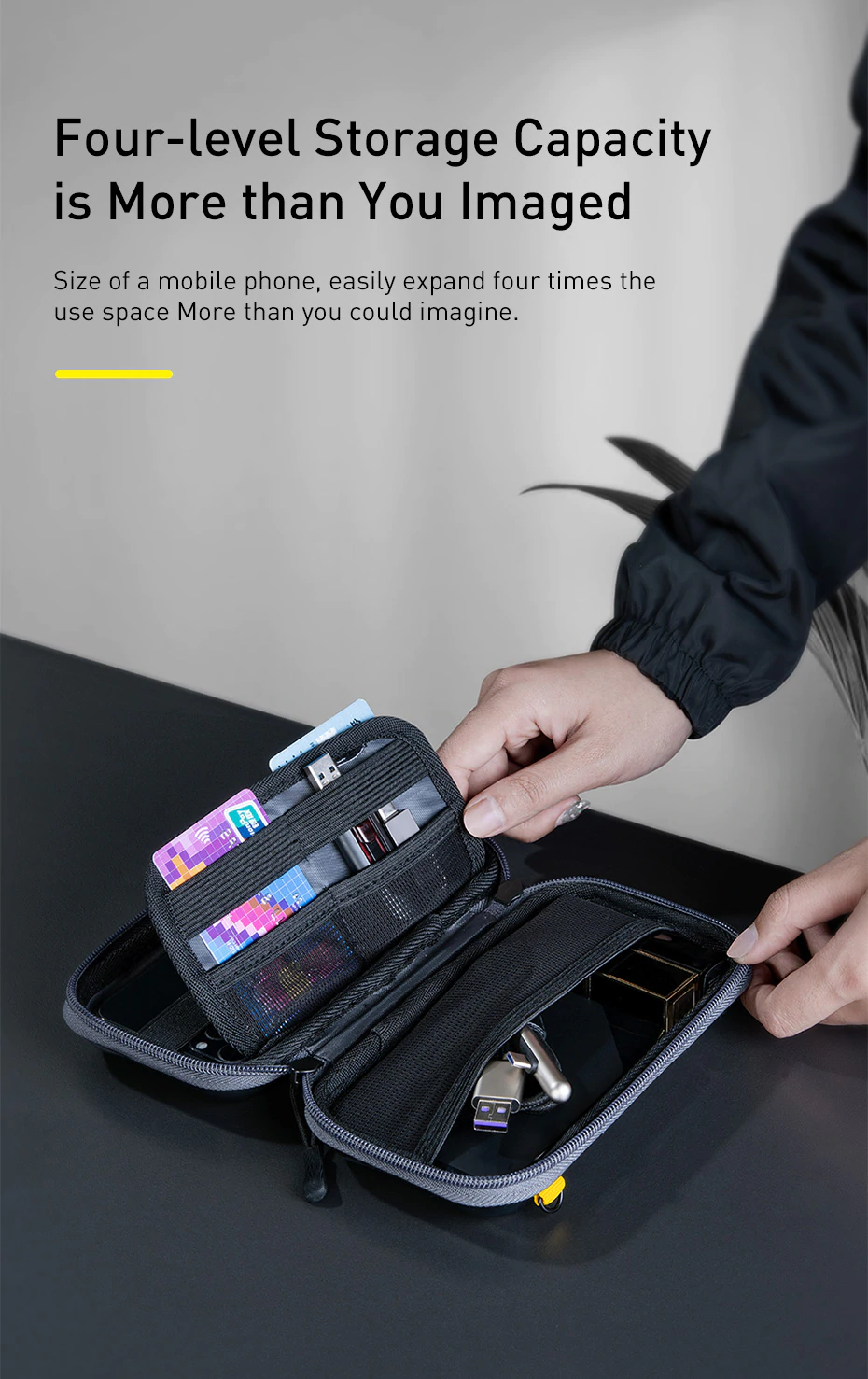 Shock Proof Digital Accessories Storage Bag For iPhone Earphones SD Card USB Cables Anti-Knock Travel Bag For Mobile Gadgets And Devices