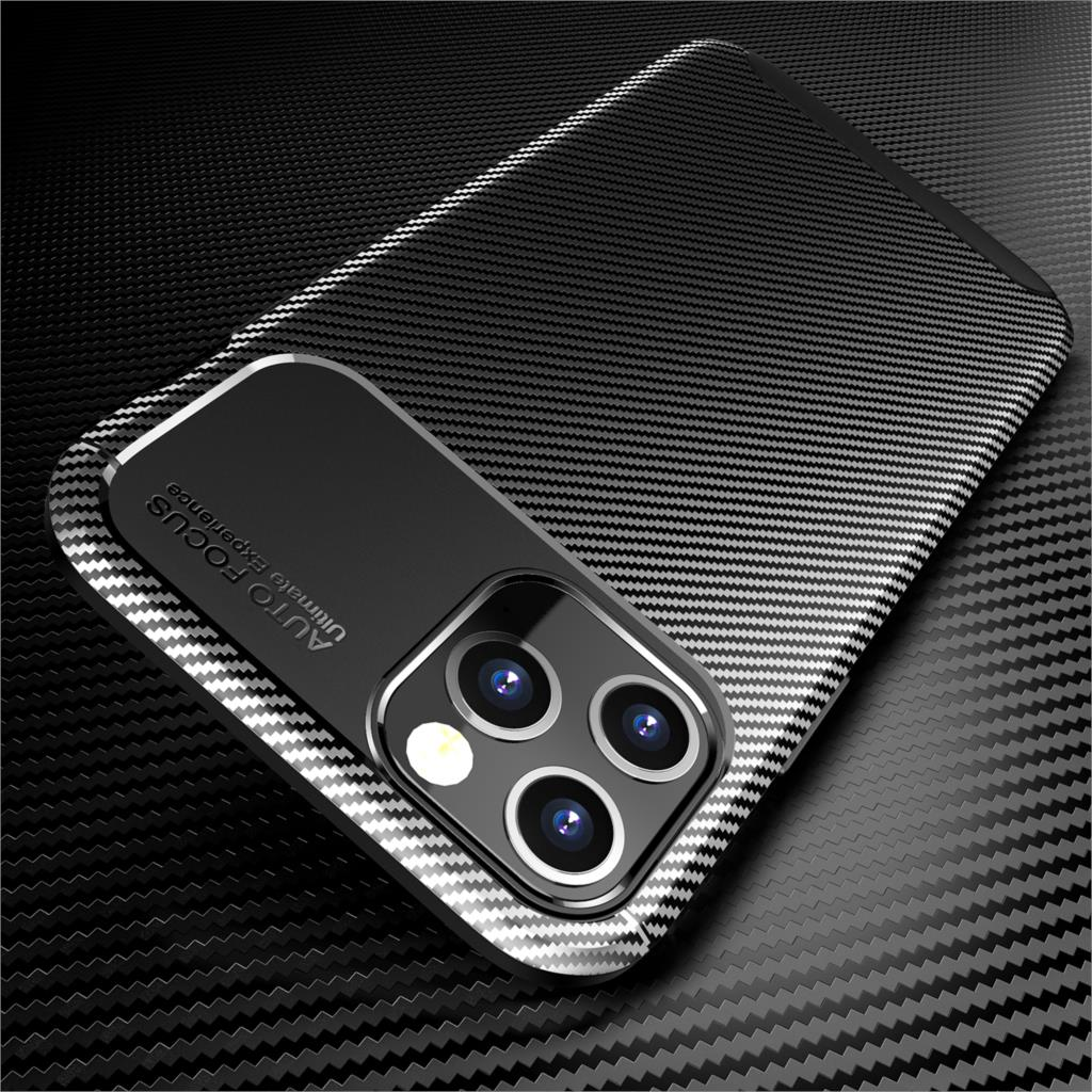 Shockproof Carbon Fiber Silicon Phone Case For iPhone 12 12 Pro Max Soft TPU Ultra Thin Ultra Light Shockproof Back Cover for iPhone 12 mini 11 Pro Max