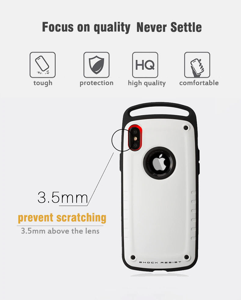 Shockproof Hybrid Tough Rugged Case For iPhone X XS Max XR Heavy Duty Hard Silicone Armor Case For iPhone XS 8 7 Plus Case