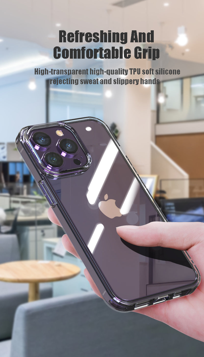 Shockproof Tempered Glass Luxury Transparent Case For iPhone 11 12 13 Pro XS Max 13Mini X XR Hard Clear Case For iPhone 7 8 Plus SE2