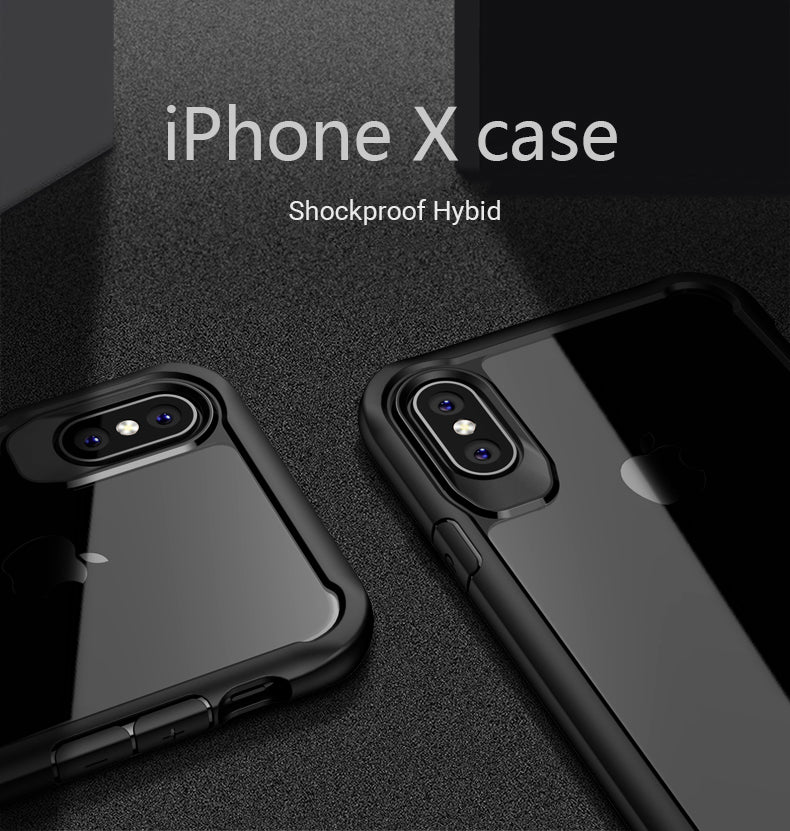 Shockproof Transparent Armor Case For iPhone XS XR 8 7 Plus Slimline Luxury Hybrid Rugged Case For iPhone 6 6S Plus 5 XS Max
