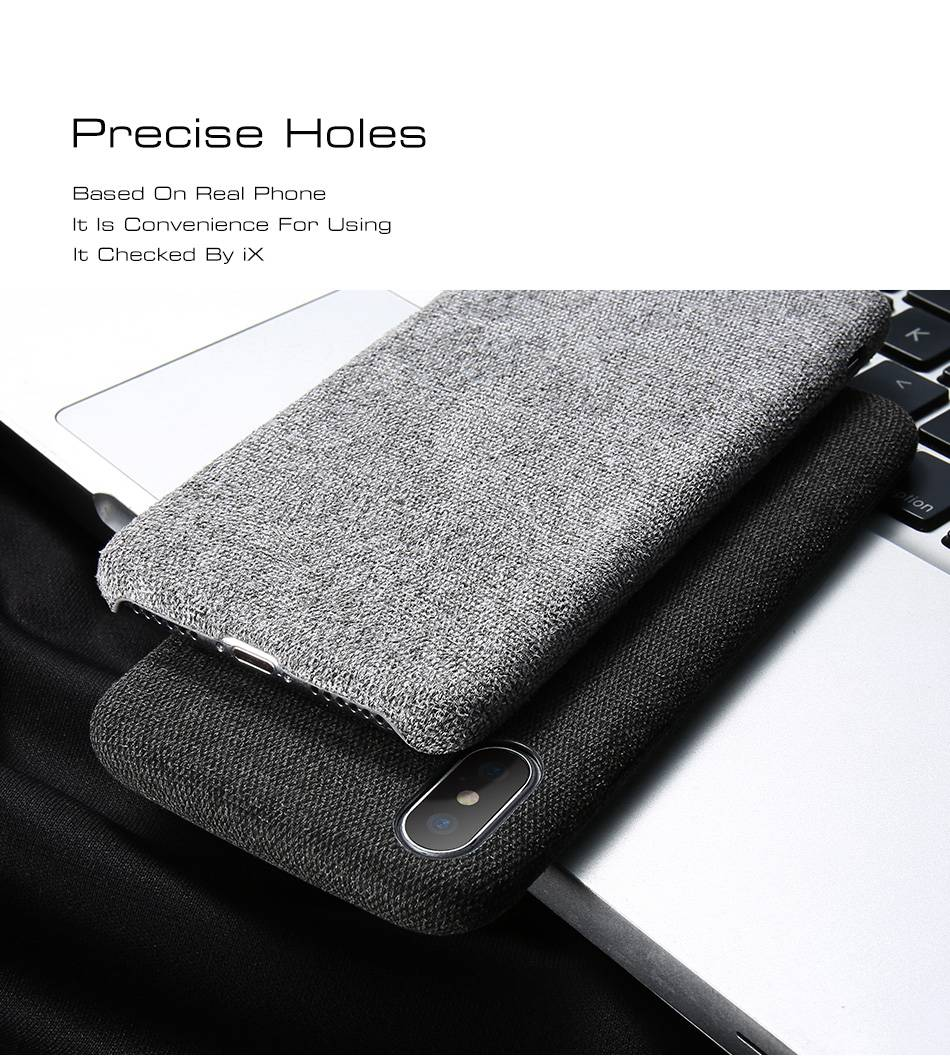 Simple Luxury Business Style Fabric  iPhone 11/11 Pro/11 Pro Max X/XS Max XR 6/6S/7/8 Ultra Thin Cloth Back Cover For iPhone In 4 Stylish Subtle Colors