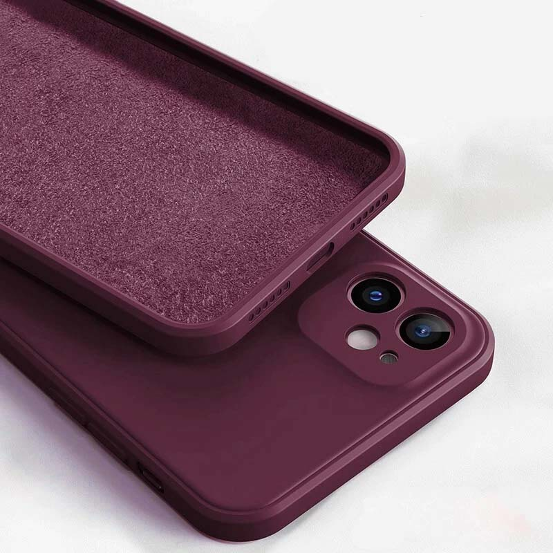Slim Lightweight Liquid Silicone Protective Case For iPhone 13 Pro Max Mini Shockproof Case For iPhone Cover For iPhone 12 Pro Max Mini Fitted Case