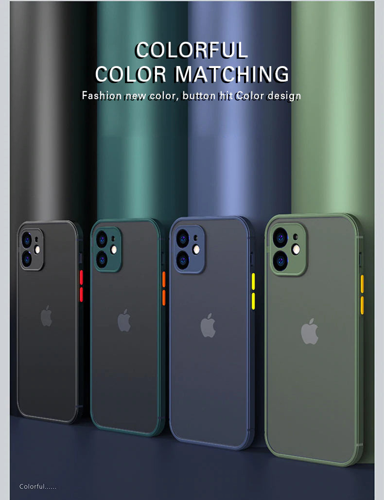 Slim Transparent Cover Luxury Silicone Shockproof Matte Phone Case For iPhone 13 12 11 Pro Max Mini X XS XR 7 8 Plus SE 2 2020