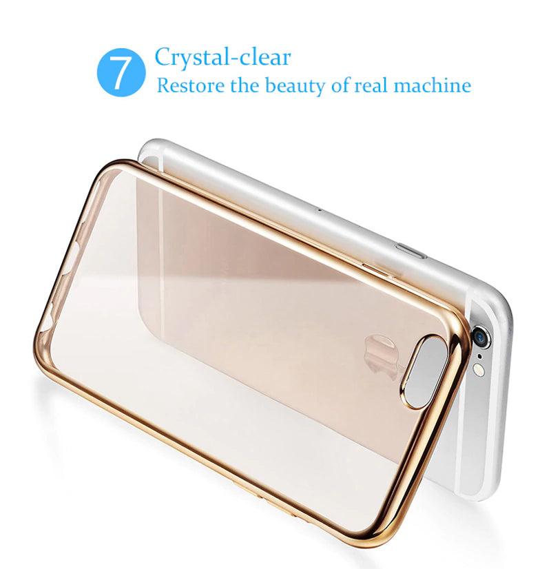 Slim Transparent Glossy Bumper Case For iPhone X 6 6s 7 8 Plus Case Scratch Resistant Silicon TPU Back Panel for Apple iPhone x 8 7 6s 6