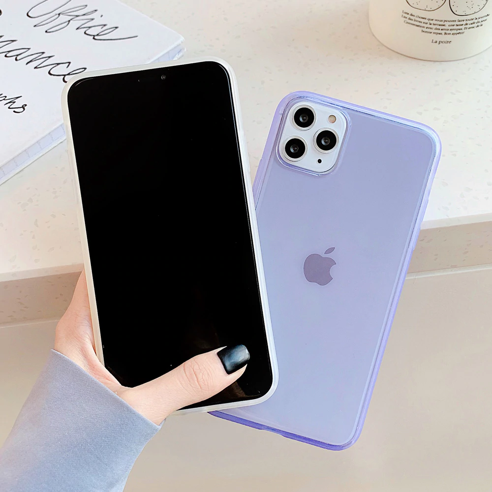 Stylish Clear Phone Case For iPhone 11 Pro Max XR XS Max XS X 6 6s 7 8 Plus Shockproof Transparent Soft TPU Mirror Back Phone Cover