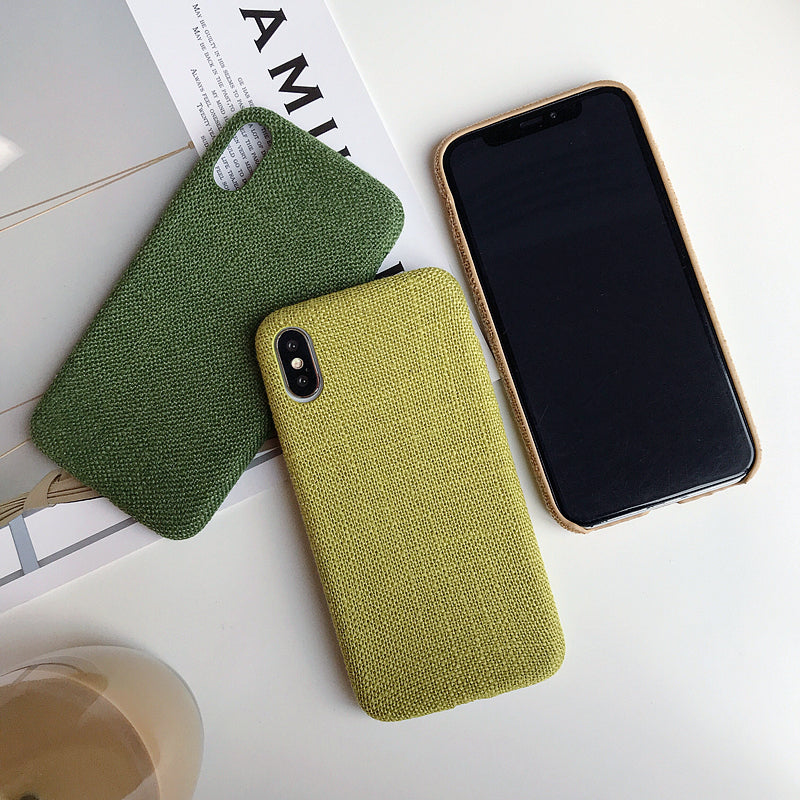 Stylish Fabric Cases For iPhone 7 8 6 6S Plus Case For iPhone X XS Max XR Ultra Thin Canvas Texture Soft Grid Pattern Phone Cases