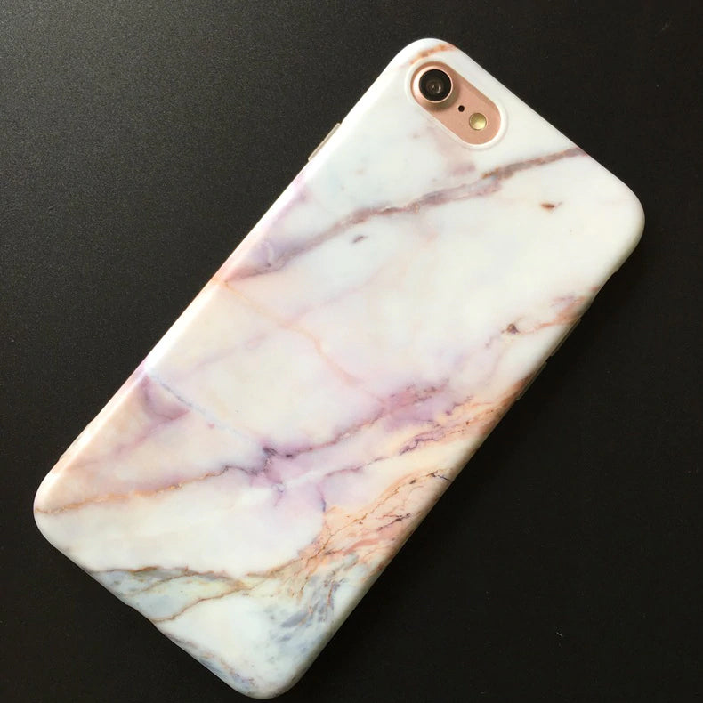 Stylish Marble Effect Fitted Case For iPhone X XR XS Max 7 8 Plus Soft TPU Silicone Cover Cases For iPhone 8 7 6 6S Plus Back Cover