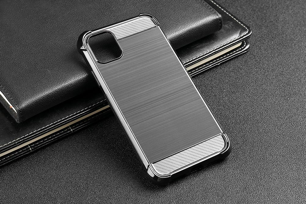 Stylish Metallic Carbon Fiber Case For iPhone 11 iPhone 11 Pro iPhone 11 Pro Max Slim Soft Carbon Fiber Design Fitted Case For iPhone 11