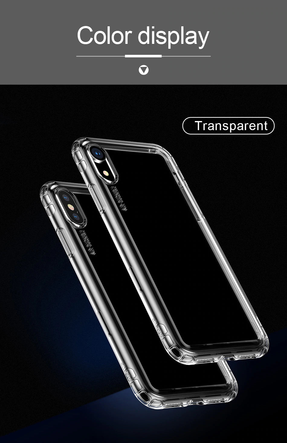 Stylish Protection Air Bag Bumper Case For iPhone Xs Max Xr X S R Xs Max Clear Soft Clear TPU Silicone Luxury Anti Shock Back Cover For iPhone