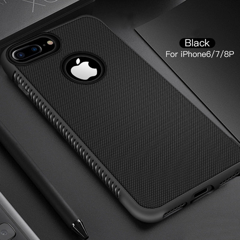 Stylish Rugged Protective Non-Slip Grippy Case For iPhone X XR XS Max Shockproof Matte Silicon Bumper Case For iPhone 6S 6 7 8 Plus 7Plus