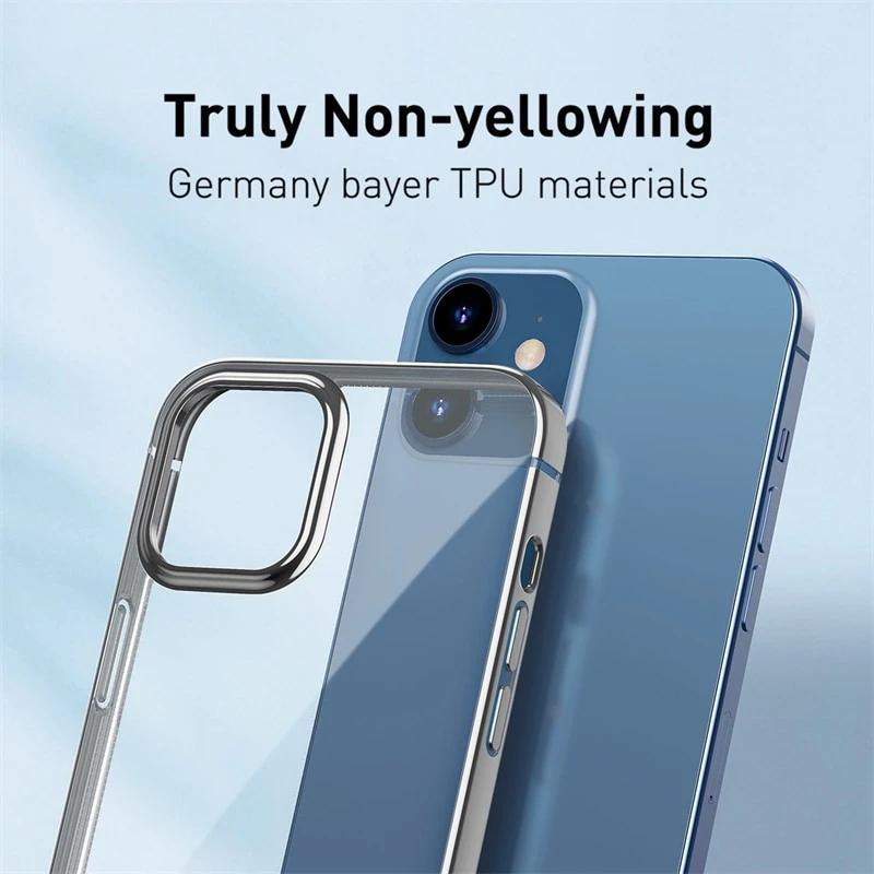Stylish Transparent Back Cover Phone Case For iPhone 12 Pro Max 12 Max Clear Case Slim Soft TPU Back Cover For iPhone 12 Pro Max