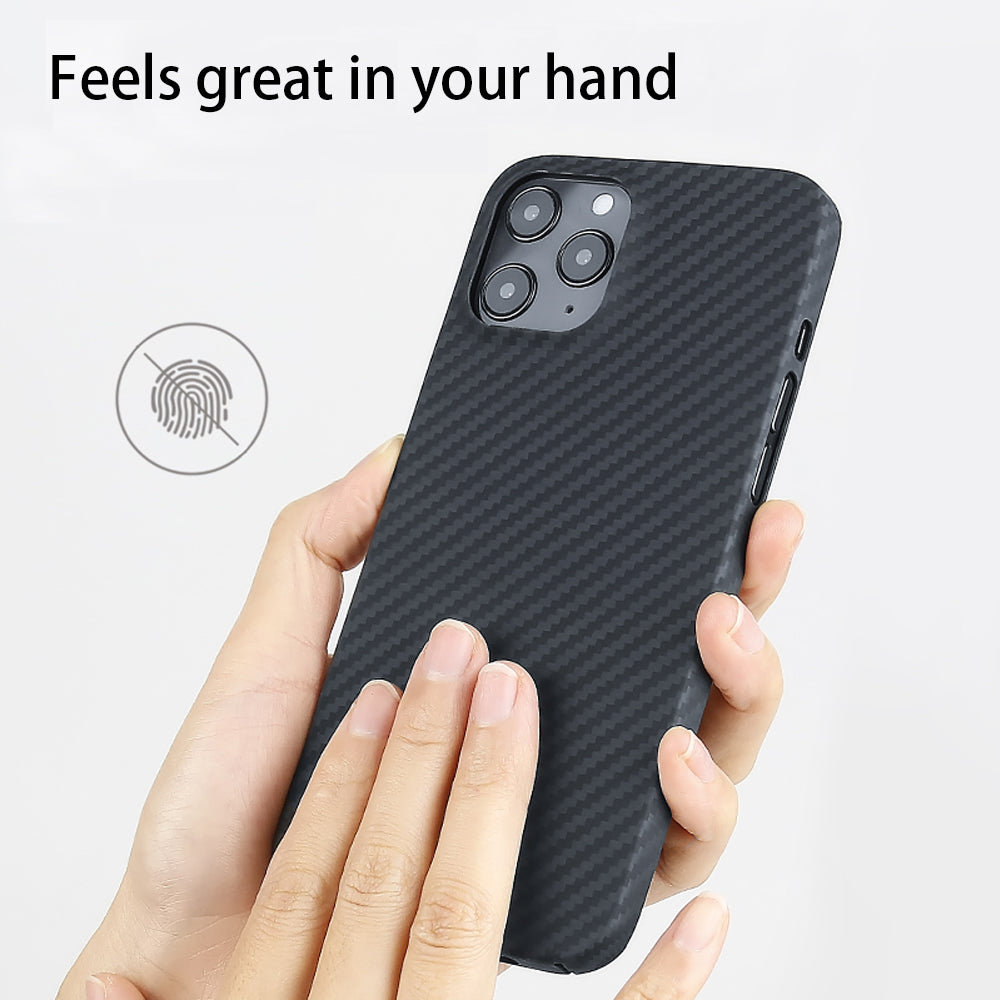 Super Thin 0.7mm Ultra Light Aramid Fiber Cover for iPhone 12 Pro Max 12Pro 3D Precision Engineered Carbon Fiber Case for iPhone 12 Mini 11 XS Max XR 11Pro