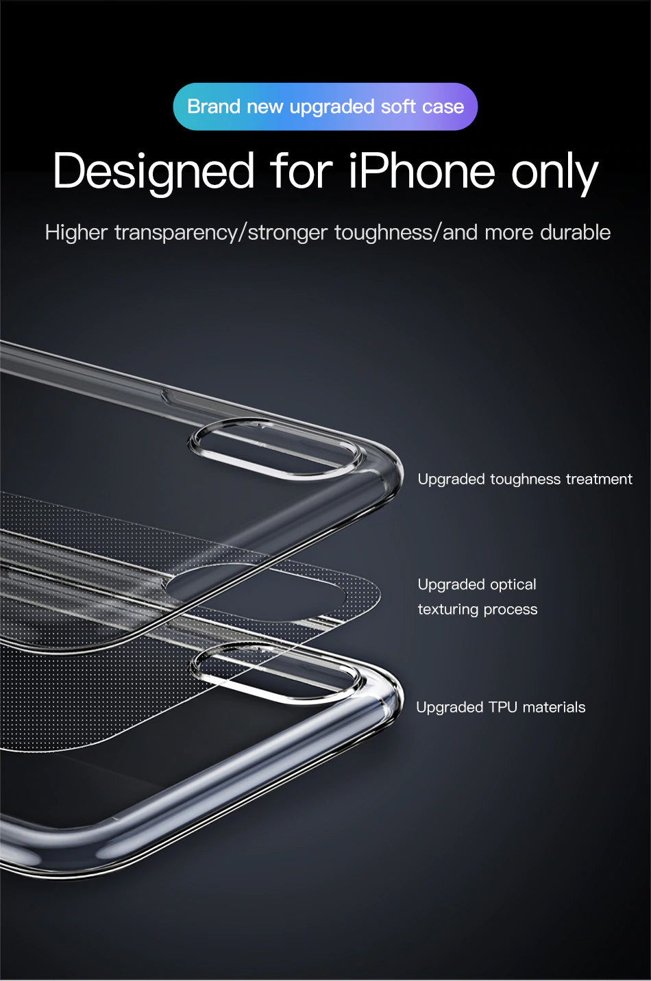 Super Ultra Thin Luxury Protective Transparent Case For iPhone Xs Xs Max XR 2018 Soft Silicone Back Cover For iPhone Xs Xs Max Case