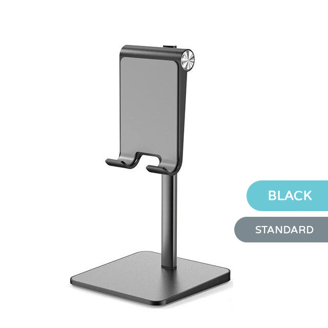 Tablet Desktop Stand Phone Holder For iPad Pro iPad Mini Aluminum Stand For Holding Tablet Or Phone For Work For Video Calls Fits Most Phones Tablets
