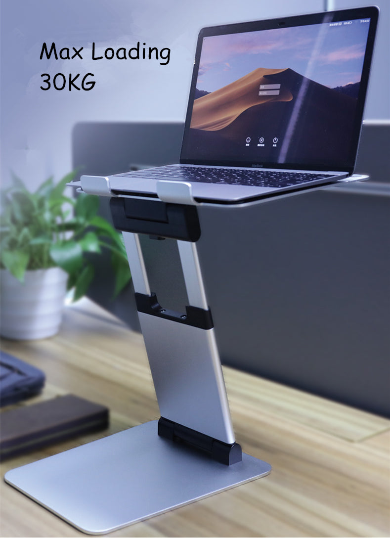 Telescopic Height Adjustable Aluminum Laptop Stand For MacBook Pro Ergonomic Design Improves Posture Whilst Working For MacBook Air Fits Most Laptops Up to 17 inch