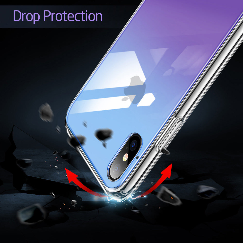 Tempered Glass Case & Frame For iPhone XR XS XS Max Protective Glass Cover + Frame For Apple iPhone XR XS XS Max Glossy Mirrored Case
