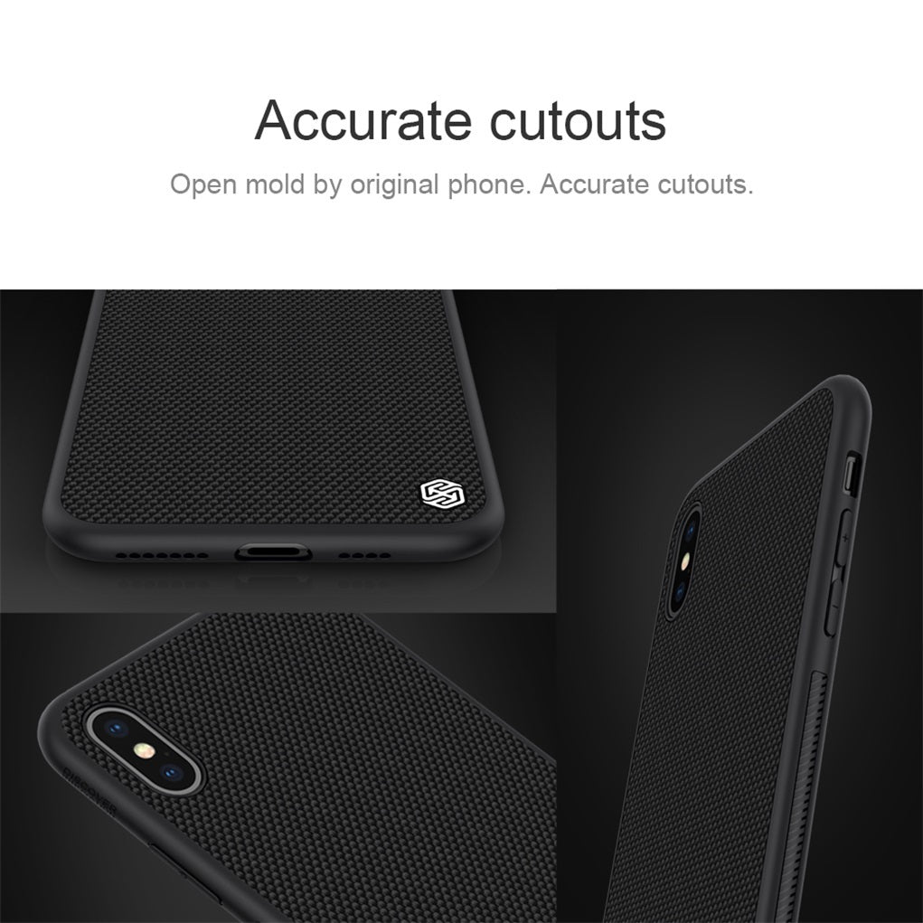 Textured Non-Slip Nylon Fiber Case for iPhone XS Max XR Back Cover For iPhone XS XSMAX Case Thin Light Anti-Finger Print Durable Fitted Case For iPhone