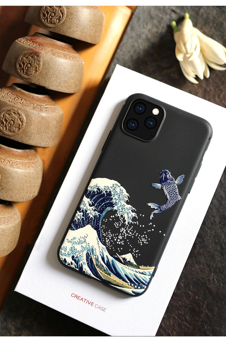 The Wave 3D Phone Case For iPhone 11 Pro Max Cute Arty Creative Cover For iPhone 7 8 6s 6 s Plus Case For iPhone SE 2020 X XR XS Max 5 s 5s se