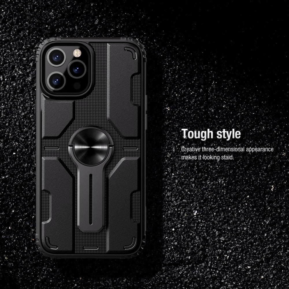 Tough Heavy Duty Armor Case For for iPhone 12 Pro Max Cover Removable Stand Protection Case for iPhone 1212 Pro12 Mini Impact Resistant TPU Case