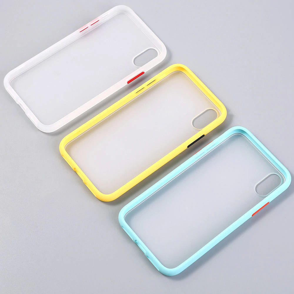 Transparent Matte Anti-Knock Protective Armor Phone Case For iPhone XR XS Max 11 X XS 7 8 6 6S Plus Shock-Proof Fitted Case Hard Case For iPhone