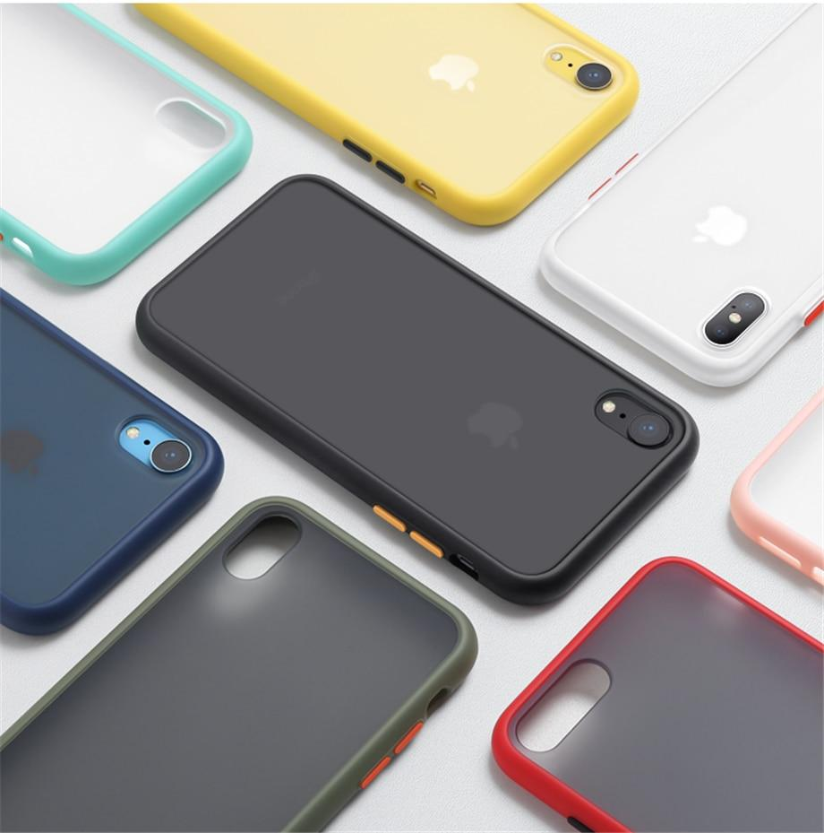 Trending Colors Shockproof Translucent Phone Case Back Cover For iPhone 11 Pro Max Luxury Soft Case For iPhone X XS Max XR 9 8 7 6 6S Plus.