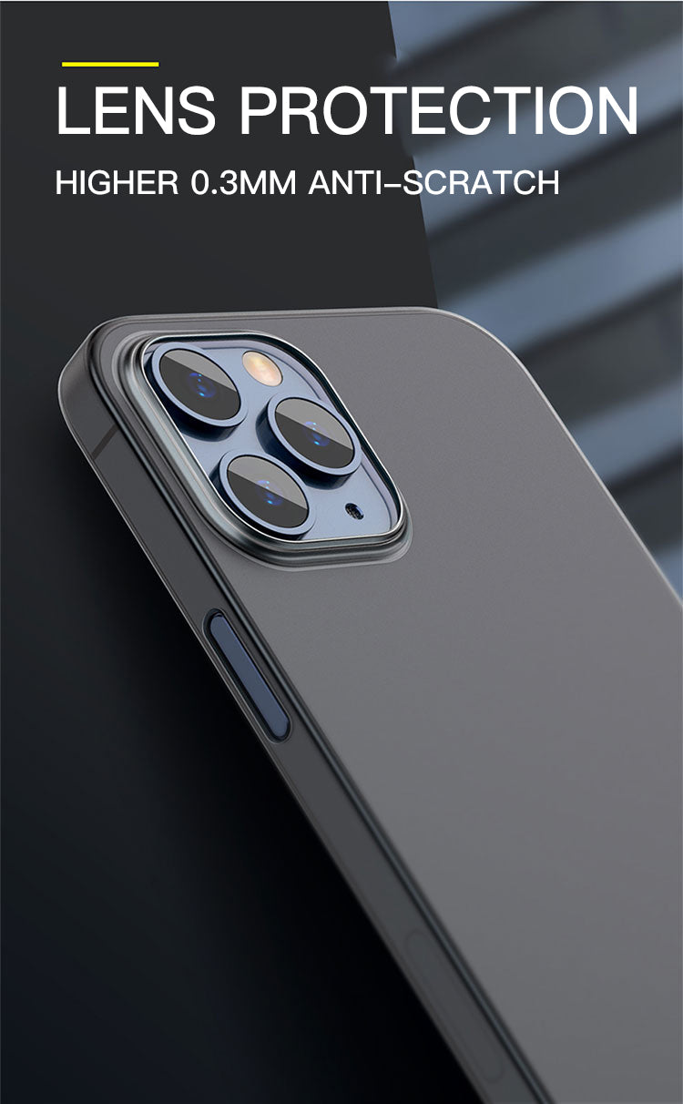 UItra Thin 0.2mm Fitted Case Matte Hard PC Phone Cover For iPhone 11 12 Pro Max XS XR X 6 S 6S 7 8 Plus SE 2020 Transparent Cover For iPhone 12 11 Pro Max