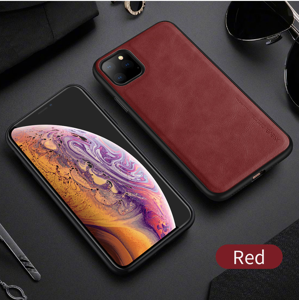 Ultra Light Luxury Shockproof iPhone Case PU Leather With Soft Silicon TPU Edge For iPhone XS 11 Pro Max 8 7P iPhone X XS XR Case
