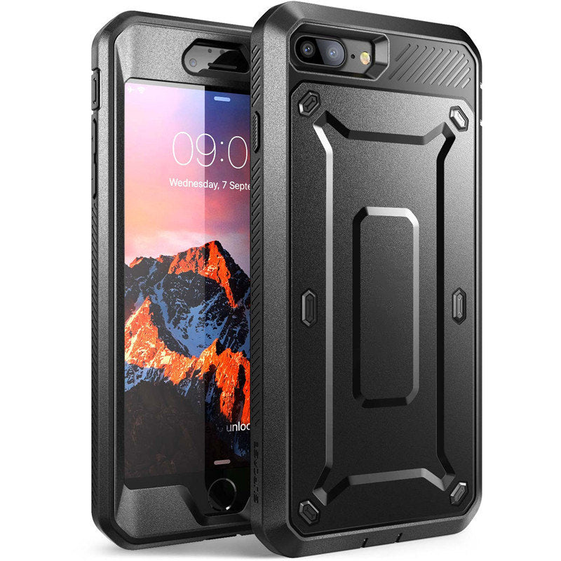Ultra Rugged Heavy Duty Full-Body Armor Casing For iPhone 7 Plus Protective Cover With Holster Clip And Built-in Screen Protector