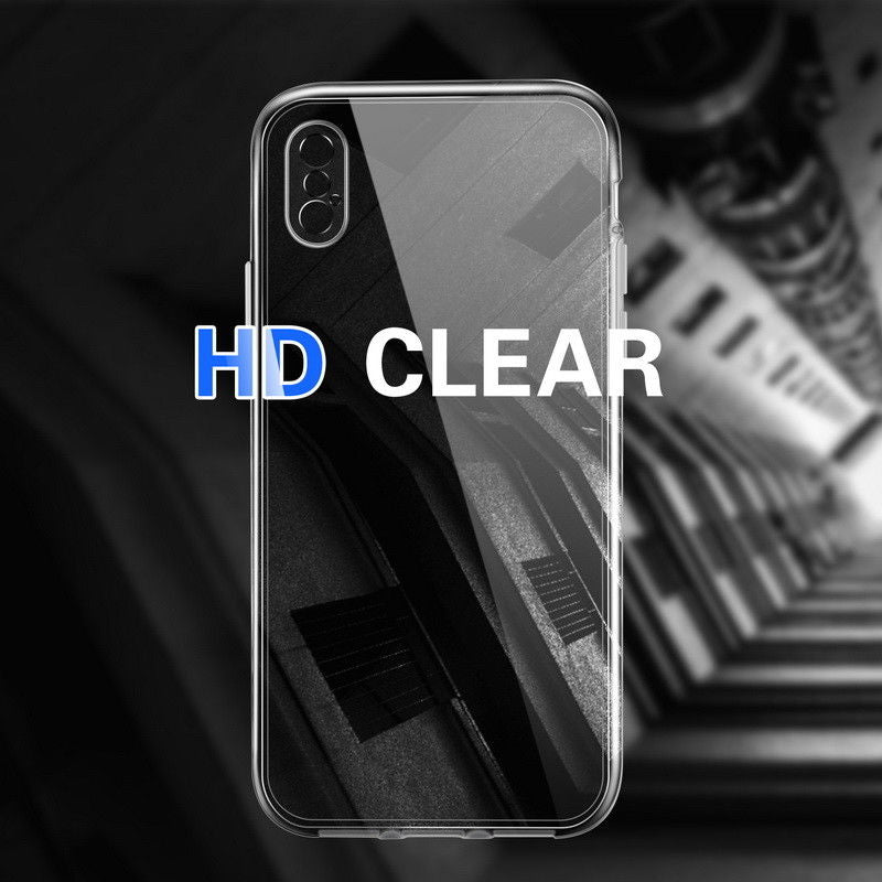 Ultra Slim HD Clear Protective Hard Case For iPhone XS Max XR X Smooth Hard PC Fitted Cover With Full Coverage Protection For iPhone X 7 8 Plus