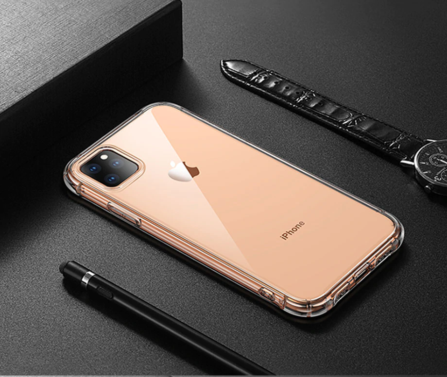 Ultra Slim Luxury Shockproof Silicone Fitted Phone Case For iPhone X 7 8 6 6S Plus XS Max XR X 11 Pro Max Cases Transparent Back Cover Protection