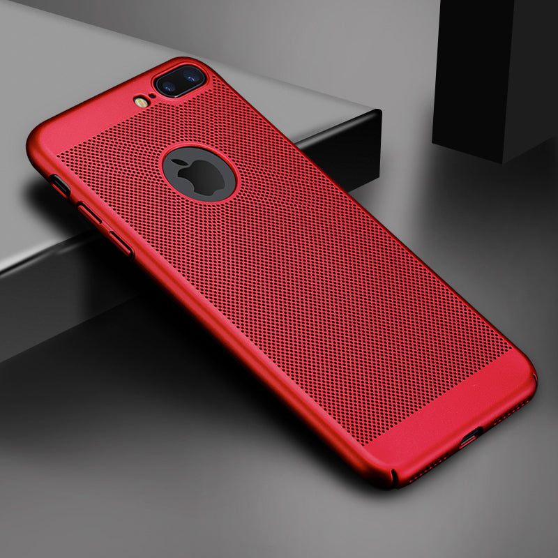 Ultra Slim Phone Case For iPhone 6 6s 7 8 Plus Hollow Heat Dissipation Hard Cases For iPhone 5 5S SE Back Cover X S MAX