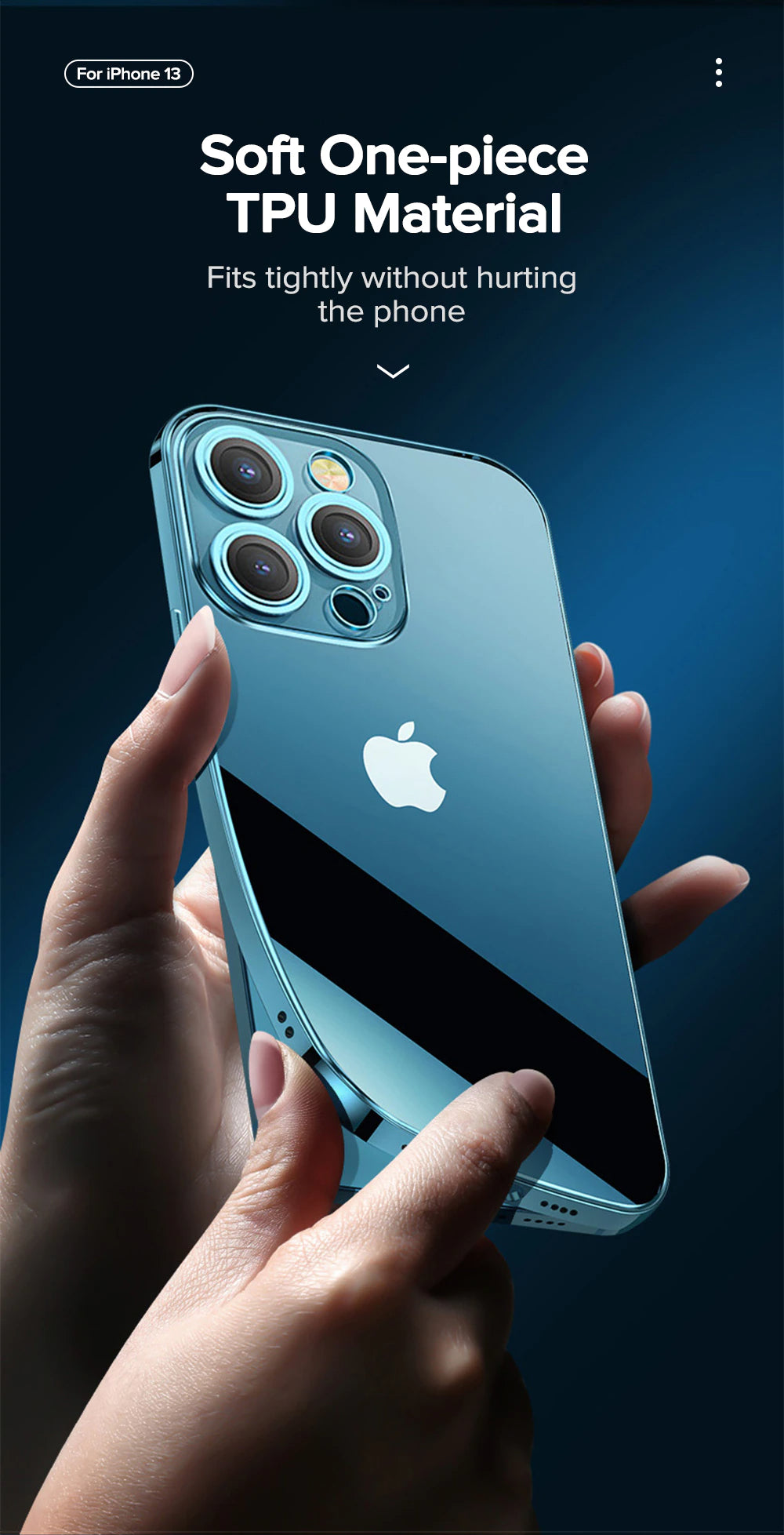 Ultra Slim Plating Edge Case For iPhone 13 Pro Max With Full Lens Protect Transparent Soft TPU Cover For iPhone 12 Pro Max Phone Case